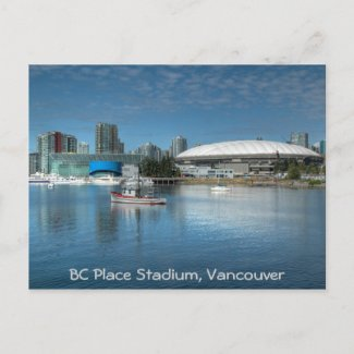 BC Place Stadium postcard