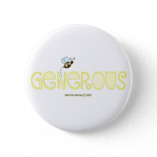 Be Generous - A Positive Word Buttons