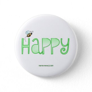 Be Happy - A Positive Word - Apparel (Green) Pin