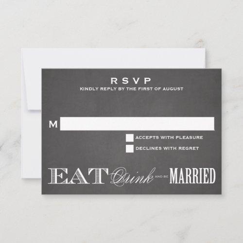 BE MARRIED CHALKBOARD | RSVP 3.5 x 5
