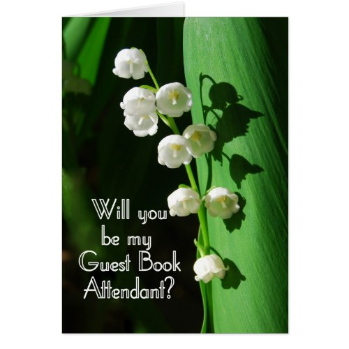 Be My Guest Book Attendant Lily of the Valley card