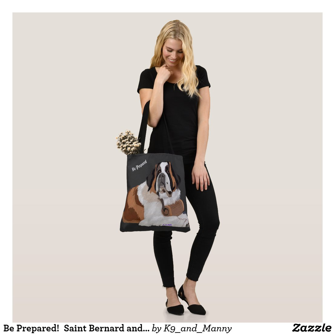 Be Prepared!  Saint Bernard and Keg Tote Bag