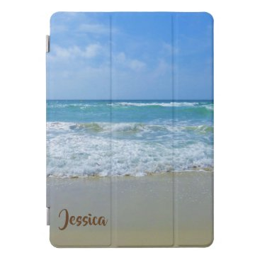 Beach and Sea Personalized Name iPad Pro Cover