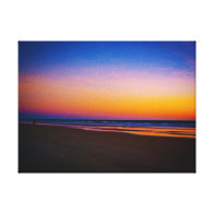 Beach and Seascape at Dawns Early Light Gallery Wrapped Canvas