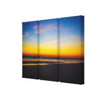 Beach and Seascape at Dawns Early Light Southeast Canvas Print