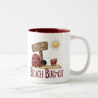 Beach Bug-gy Two-Tone Coffee Mug