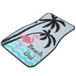 ❤️ Beach Flamingo Tropical Design Car Floor Mat