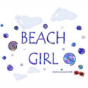 Beach Girl - Footprints & Swirls 2 - Tote Bag zazzle_bag