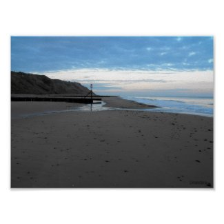 Beach in Mundesley, Norfolk by Alexandra Cook print