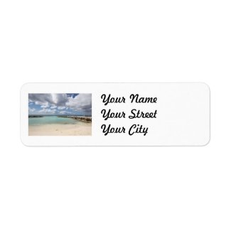 Beach on De Palm Island - Aruba Labels