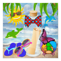 Beach Party - SRF Card