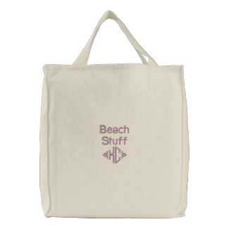 Beach Stuff - Embroidered Bag