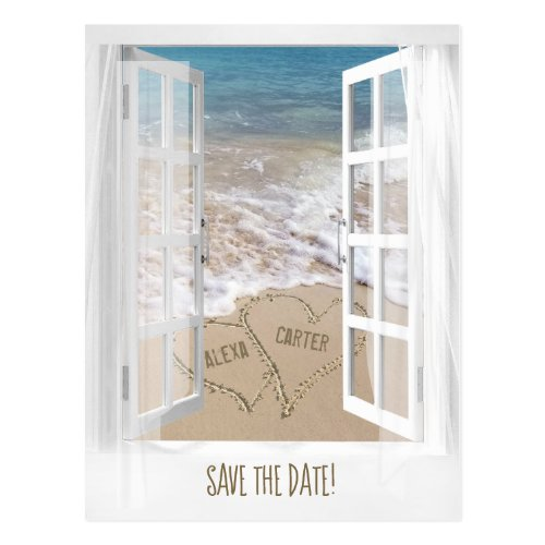 Beach Window Save the Date Postcard