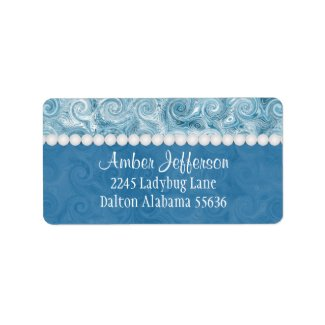 Beachy Blue Swirl: Address Labels