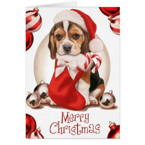 Beagle Puppy Christmas Cards
