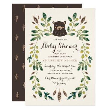 Bear Cub Baby Shower Invitation
