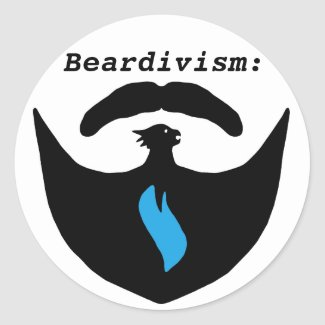 Beardivism Sticker