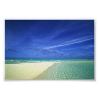 Beautiful Beach print poster