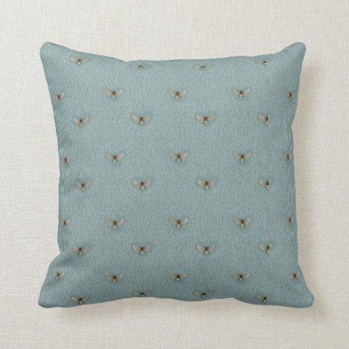 Beautiful Chic Hand-Drawn Bee Pattern Throw Pillow