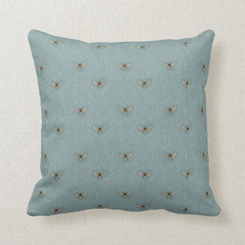 Beautiful Chic Hand-Drawn Bee Pattern Throw Pillow