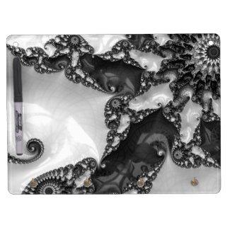 Beautiful Elegant White&Black Lace Fractal Dry Erase Board