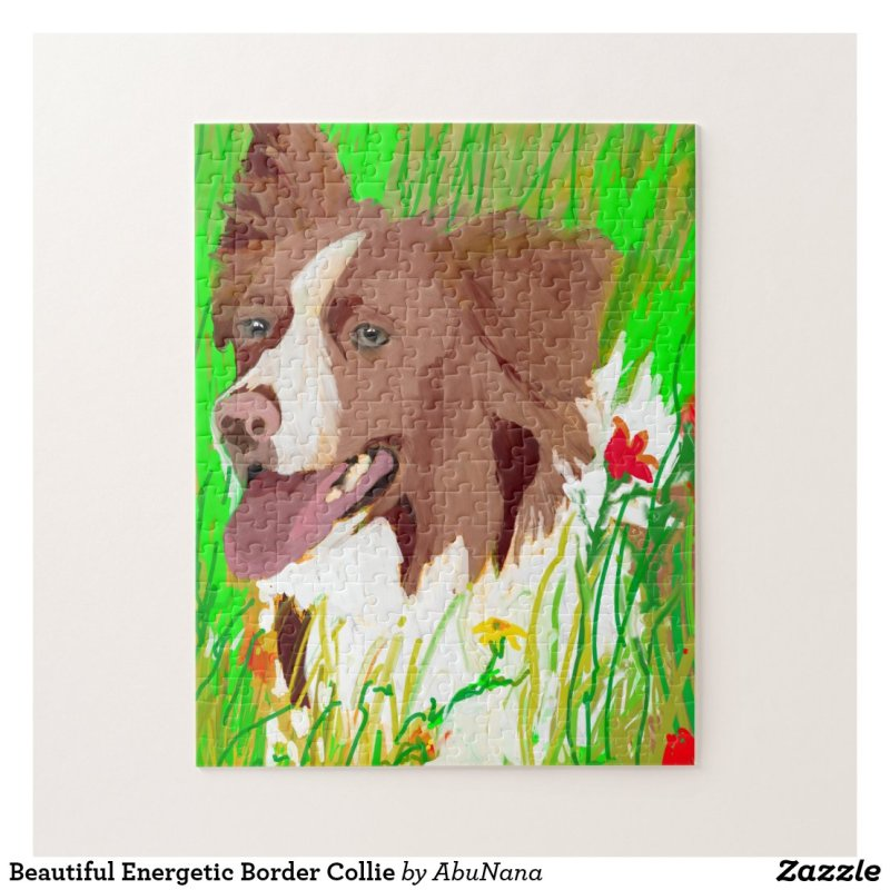Beautiful Energetic Border Collie Jigsaw Puzzle