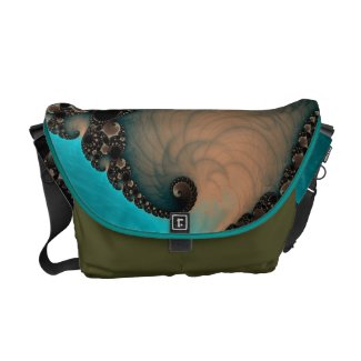 Beautiful Fractal Art Rickshaw Messenger Bag