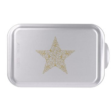 Beautiful Gold Star Cake Pan