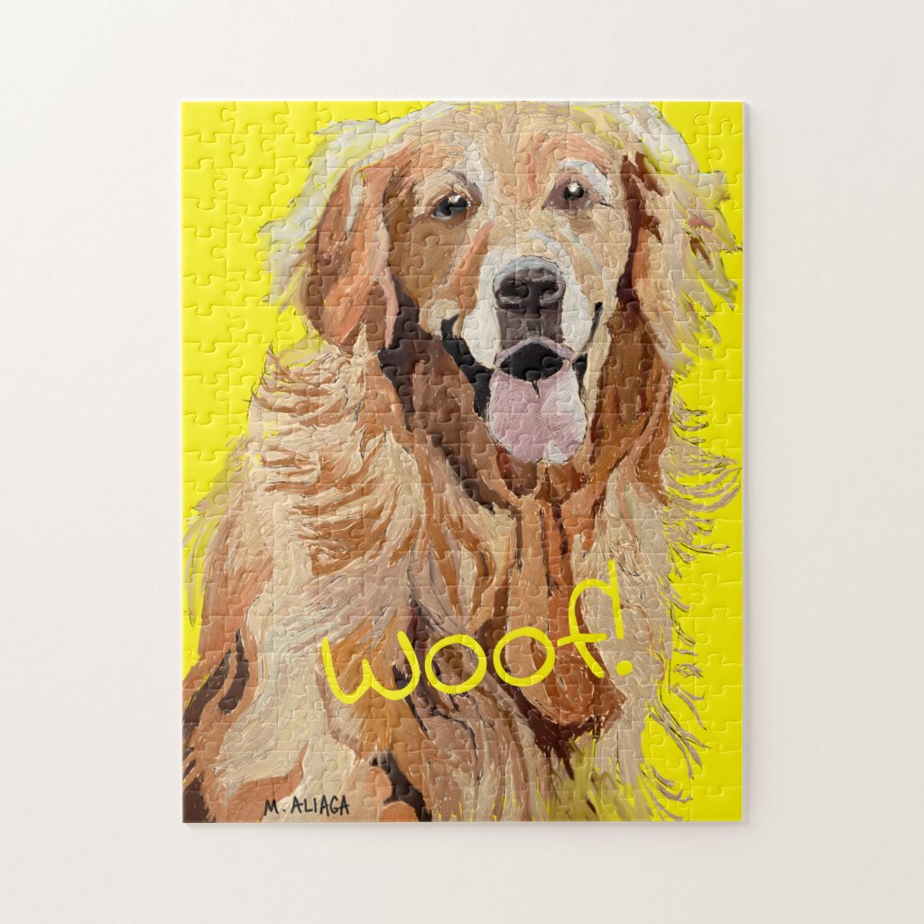 Beautiful Golden Retriever Jigsaw Puzzle