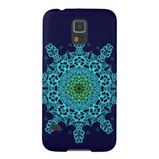 Beautiful lace mandala aqua pattern galaxy s5 covers