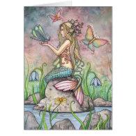Beautiful Mermaid Card by Molly Harrison