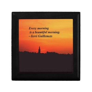 Beautiful Mornings Trinket Box