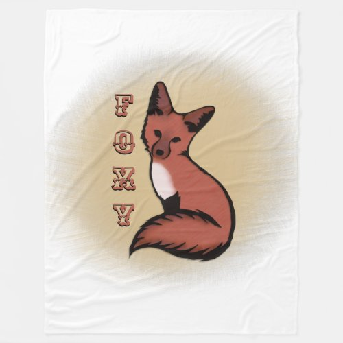 Beautiful Red Foxy Fox Fleece Blanket