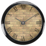Beautiful Rustic Brick wall Texture Aquavista Clock