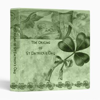 Beautiful Shamrocks Vinyl Binder