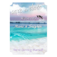 BEAUTIFUL TROPICAL OCEAN SUNRISE Save the Date Card