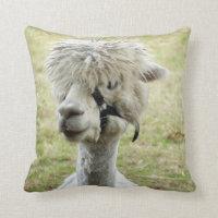 Beautiful White Llama Cushion