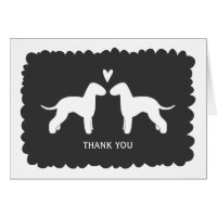 Bedlington Terriers Wedding Thank You Card