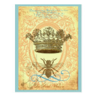 Bee and Crown Postcard
