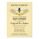 Bee Gender Reveal Baby Shower Invitation