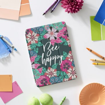 Bee Happy Blossoms Floral Art iPad Pro Cover