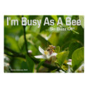 Bee - I'm Busy, So Buzz Off - Poster