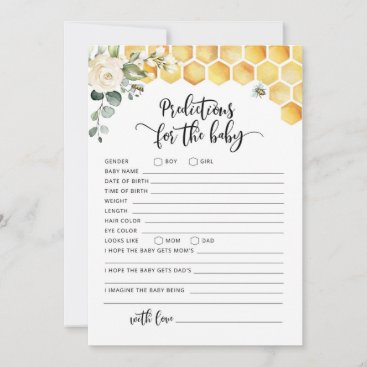 Bee predictions for baby card