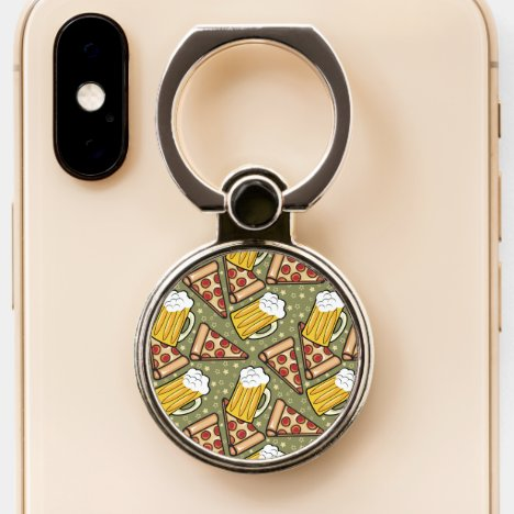 Beer and Pizza Lovers Phone Ring Stand