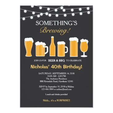 Beer Birthday Invitation, Adult Birthday Invitation