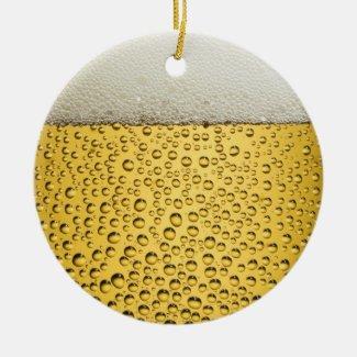 Beer Glass Ceramic Ornament