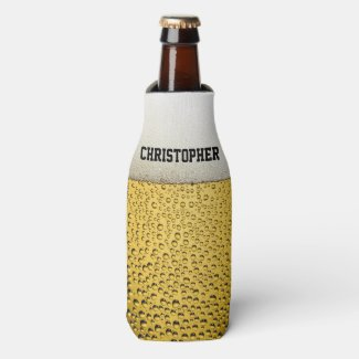 Beer Glass Personalize Bottle Cooler