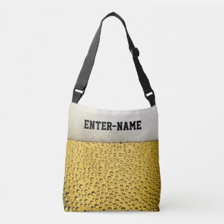 Beer Glass Personalize Crossbody Bag