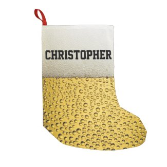 Beer Glass Personalize Small Christmas Stocking