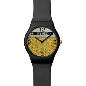 Beer Glass Personalize Wrist Watches